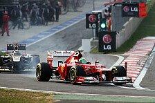 Formel 1 - Zwischen zwei und vier Zehntel: Ferrari Updates zu wenig?