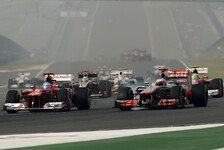 Formel 1 - Duell am Start war das Highlight: Button k�mpfte mit nerv�sem Heck