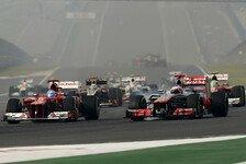 Formel 1 - Duell am Start war das Highlight: Button k�mpfte mit nerv�sem Heck