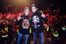 Moto2 - Die Marquez-Br�der feiern in Cervera