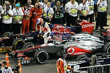 Formel 1 - Es h�tte auch knallen k�nnen: Button: Vettels Mut beugt Peinlichkeit vor