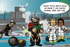 Formel 1 - Kimi knows best: Comic: Herr R�ikk�nen will seine Ruhe