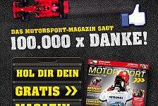 Formel 1 - Vielen Dank!: Motorsport-Magazin.com: 100.000 Fans bei Facebook