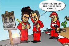 Formel 1 - Des einen Freud, des andern Leid: Comic: Das Ticket f�r Alonsos Podestplatz