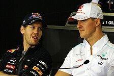 Formel 1 - Eine Inspiration : Vettel & Alonso zollen Schumacher Tribut