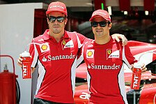 Formel 1 - Ein Kompliment zum Abschied: Massa: Alonso ist der perfekte Fahrer