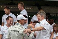 Formel 1 - Neuer Silberpfeil auch von ihm gepr�gt: Brawn: Schumacher hatte den Speed nicht verloren