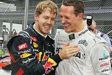 Formel 1 - Rekorde sind da, um gebrochen zu werden: Schumacher traut Vettel sieben Titel zu