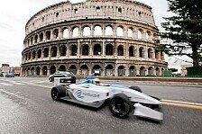 Formel E - Vorbei am Kolosseum: Video - Der Formel-E-Bolide in Rom
