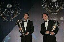 Formel 1 - Red Bull mit doppelten Hattrick: Weltmeister-Ehren f�r Vettel und Red Bull