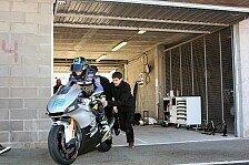 Moto2 - Ein Besuch im kalten Spanien: Simeon f�hrt ersten Test mit SAG