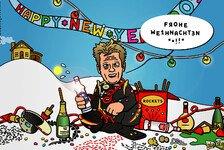 Formel 1 - Wenn das f�nfte Lichtlein brennt...: Comic: Der Iceman l�sst es krachen