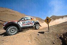 Dakar - Vom Helikopter gestoppt: Stephan Schott/Holm Schmidt