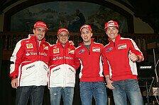 Formel 1 - Die MotoGP-Stars etwas gerempelt: Alonso gewinnt Wrooom-Kartrennen