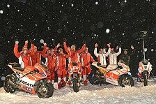 MotoGP - Spa� im Schnee: Video - Ducati bei Wrooom 2013