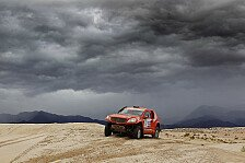 Dakar - HS RallyeTeam k�mpft sich durch die Fluten: Kahle/Sch�nemann setzten auf Vorsicht