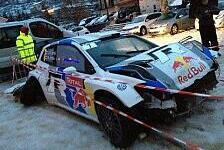 WRC - Weiterfahren nicht m�glich: Schnee wirft Latvala aus der Bahn