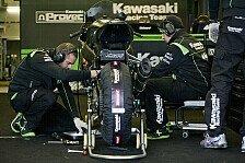 Superbike - Sykes und Baz mit ihrer Maschine: Kawasaki-Pr�sentation wird live gestreamt