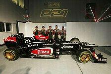 Formel 1 - Zwei Rookies und der Iceman : Lotus: R�ikk�nen f�hrt beim Young-Driver-Test