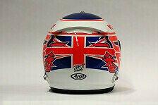 Formel 1 - Bilder: Fahrerhelme - Button & Perez
