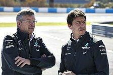 Formel 1 - Den Ball flach halten: Mercedes: Brawn schlie�t baldigen Abschied aus