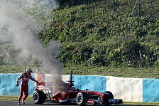 Formel 1 - De la Rosa kommt nur zwei Runden weit: Jerez-Test: Feuer-Defekt am Ferrari
