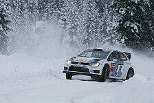 WRC - Volkswagen in Schweden in F�hrung: VW feiert Sebastien Ogiers Tag