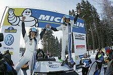 WRC - WM-F�hrung f�r Volkswagen: Ogier triumphiert in Schweden