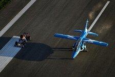Formel 1 - Fl�gel verleihen und so...: Videos - Red Bull: Duell mit Flugzeug