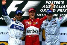 Formel 1 - Die Podien seit 1985 in Down Under