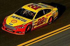 NASCAR - Martin fehlten zwei Runden zum Sieg: Logano f�hrt von der Pole zum Sieg