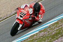 Moto2 - Tagesbestzeit bei schlechtem Wetter: Terol auch im Nassen Schnellster