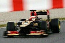 Formel 1 - Lieber Erster, als Letzter: Grosjean: Bestzeit zum Testabschluss