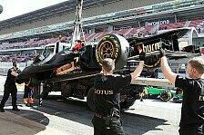 Formel 1 - Wenige Runden, aber immerhin schnell: Lotus trauert verlorenen Kilometern nach