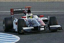 GP2 - Petrus kennt keine Gnade: Calado Schnellster beim Regen-Test