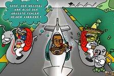 Formel 1 - Den Ex & die Pesos-Schnecke verblasen: Comic: Hamilton & Roscoe auf dem Vormarsch