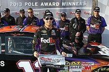 NASCAR - Alle drei Gibbs-Toyota stehen vorne: Dritte Fontana-Pole f�r Denny Hamlin