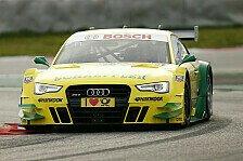 DTM - Audis setzen sich im Regen durch: Training: Rockenfeller Schnellster in Hockenheim
