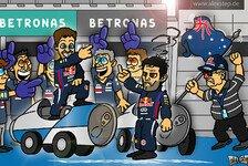 Formel 1 - Webbers Antwort auf den Vettel-Finger: Comic: Stunk bei Red Bull Racing