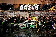 NASCAR - Entscheidung durch letzten Boxenstopp: Kyle Busch bezwingt Martin Truex