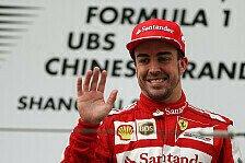 Formel 1 - Senna ist der N�chste auf der Liste: Alonso: Rennpace Ferraris gro�e St�rke