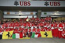Formel 1 - Der M�chtige gratuliert: Ferrari: Lobeshymnen auf Sieger Alonso