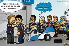 Formel 1 - Das schwarze Schaf der Familie: Comic: Mark Webbers Dilemma bei Red Bull
