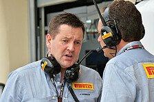 Formel 1 - Pirelli braucht aktuelle Boliden: Hembery fordert bessere Testbedingungen