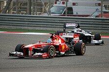 Formel 1 - Selbst mit defektem DRS nur eine Sekunde verloren: Barrichello: Alonso h�tte Vettel eingeheizt