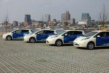 Auto - Vier emissionsfrei fahrende Nissan Leaf f�r Prima Clima mobil GmbH: Hamburg erh�lt Deutschlands erste E-Taxi-Flotte