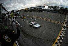 NASCAR - 7-Stunden-Marathon nach Regenunterbrechung : Ragan gewinnt sensationell in Talladega