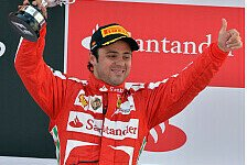 Formel 1 - Ferrari-Pilot absolviert Showrun: Felipe Massa bei Street Demonstration in Warschau