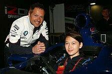 DTM - Besuch beim Simulator-Training: Priaulx blickte dem Nachwuchs auf die Finger
