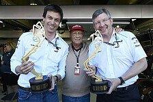 Formel 1 - Verwunderung bei Mercedes: Wolff: Brawn-Abschied kein Thema